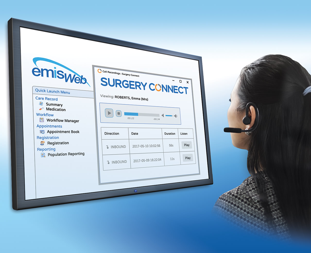 Agent using Surgery Connect integrated with EMIS Web